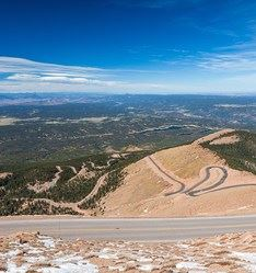 Pikes Peak Highway, Colorado, USA
